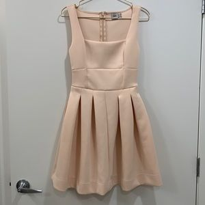 ASOS Pink Structured Square Neck Party Dress